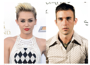 The Insufferable: Miley Cyrus and Sufjan Stevens. (photo via E! Online)